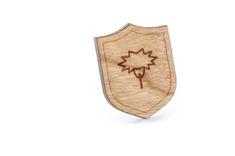 Carnation Wood Lapel Pin