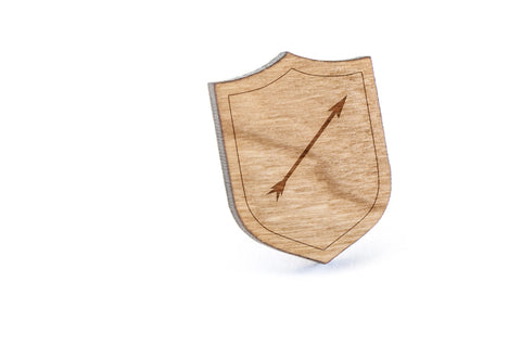 Arrow Wood Lapel Pin