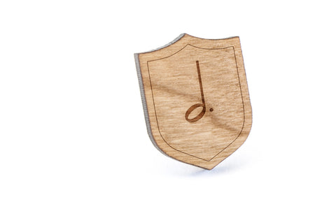 Dotted Halfnote Wood Lapel Pin