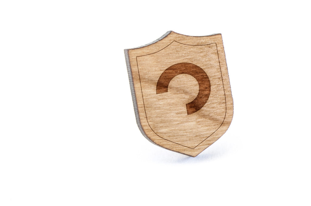 Asexuality Wood Lapel Pin