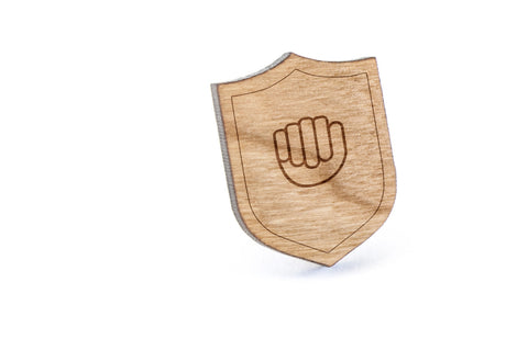 Asl A Wood Lapel Pin