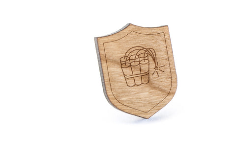Dynamite Stick Wood Lapel Pin
