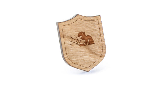 Welder Wood Lapel Pin