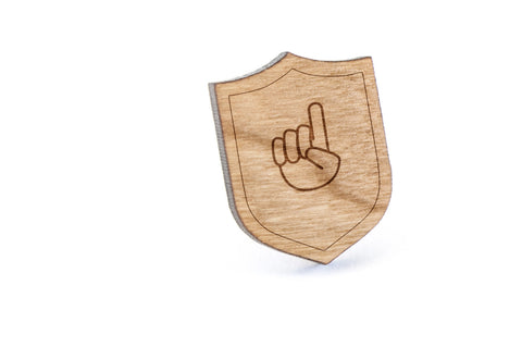 Asl F Wood Lapel Pin