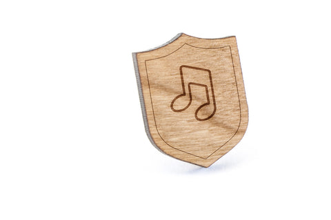 Eigthnote Wood Lapel Pin