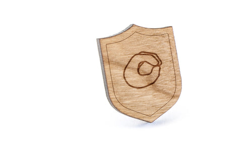 Asl O Wood Lapel Pin