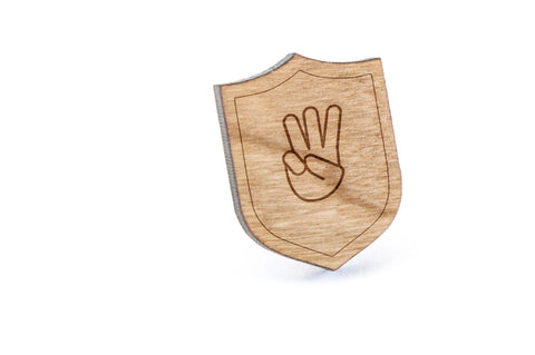 Asl W Wood Lapel Pin