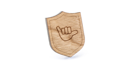 Asl Y Wood Lapel Pin