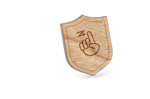 Asl Z Wood Lapel Pin