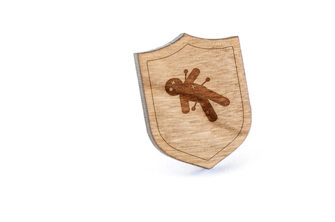 Voodoo Wood Lapel Pin