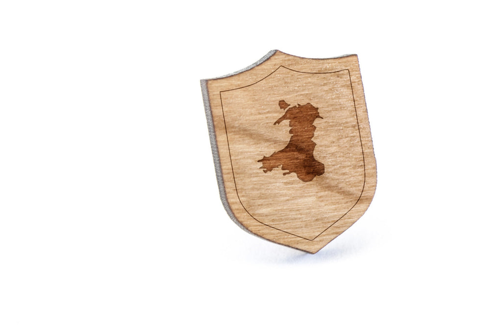 Wales Wood Lapel Pin