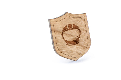 Astronaut Wood Lapel Pin
