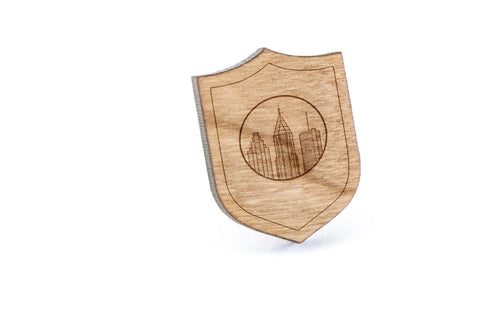 Atlanta Skyline Wood Lapel Pin