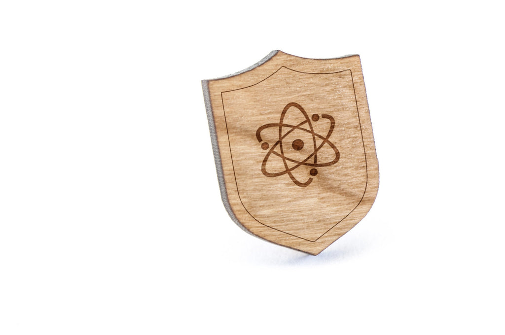 Atomic Orbital Wood Lapel Pin