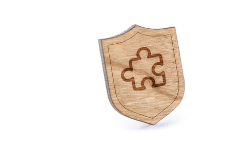 Autism Wood Lapel Pin