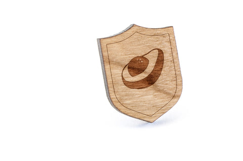 Avocado Wood Lapel Pin