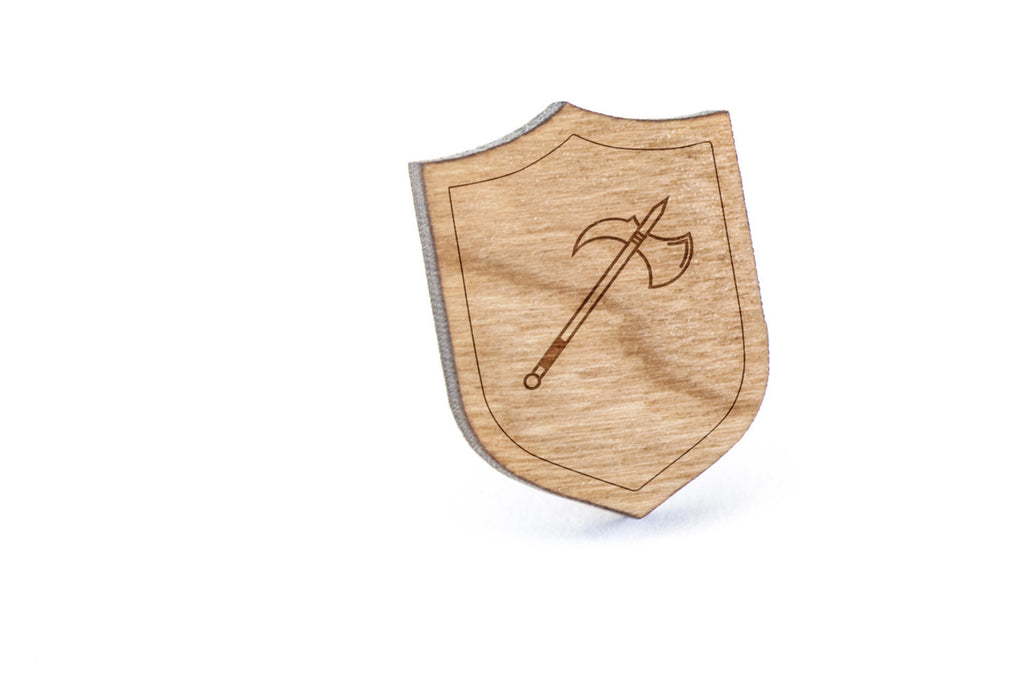 Axe Wood Lapel Pin