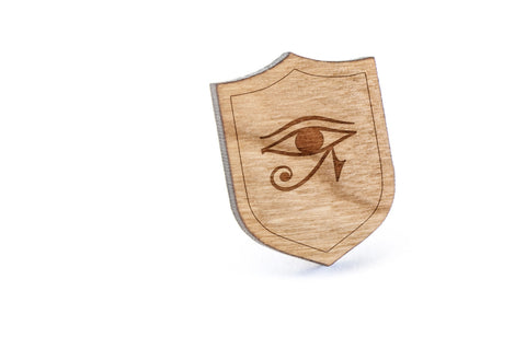 Eye Of Horus Wood Lapel Pin