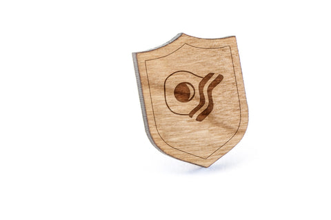 Bacon And Egg Wood Lapel Pin