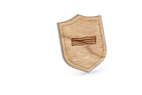 Bacon Wood Lapel Pin