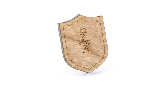 Ballerina Wood Lapel Pin