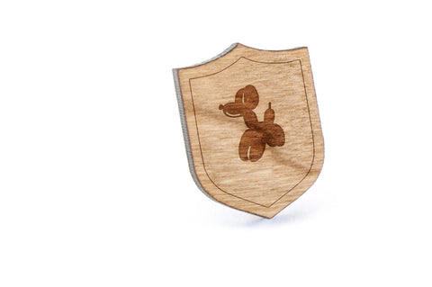 Balloon Animal Wood Lapel Pin