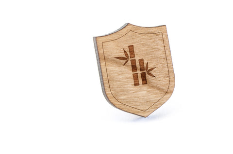 Bamboo Silhouette Wood Lapel Pin
