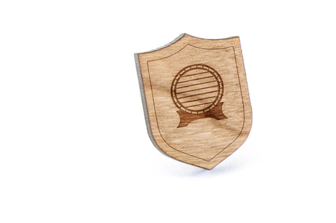 Barrel Wood Lapel Pin