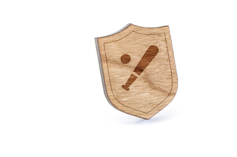 Baseball Wood Lapel Pin