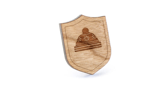 Beanie Wood Lapel Pin