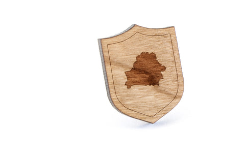 Belarus Wood Lapel Pin