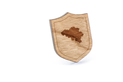 Belgium Wood Lapel Pin