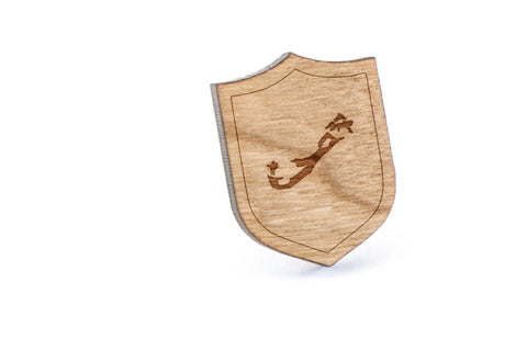 Bermuda Wood Lapel Pin