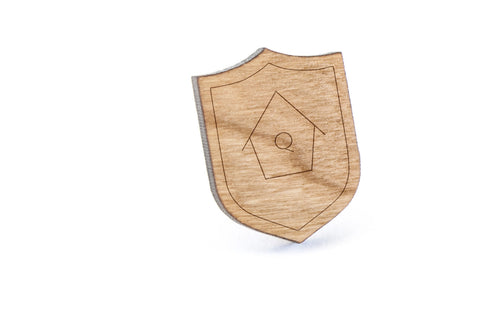 Birdhouse Wood Lapel Pin