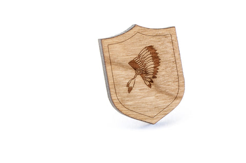 Headdress Wood Lapel Pin