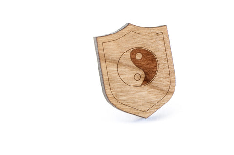 Tao Wood Lapel Pin