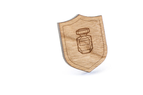 Perfume Bottle Wood Lapel Pin