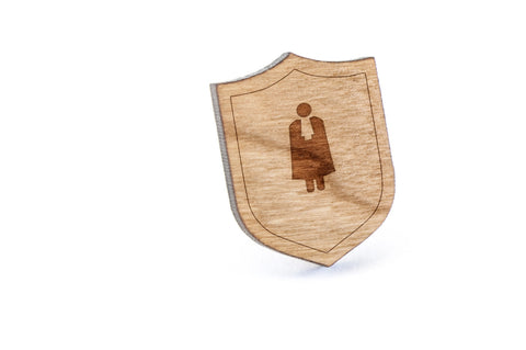 Lawyer Wood Lapel Pin