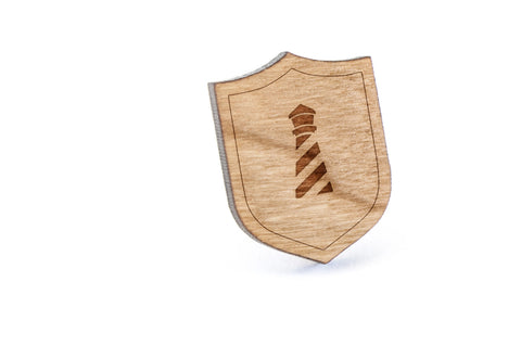 Lighthouse Wood Lapel Pin