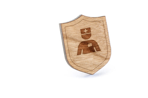 Nurse Wood Lapel Pin