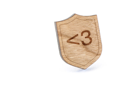 Love Wood Lapel Pin