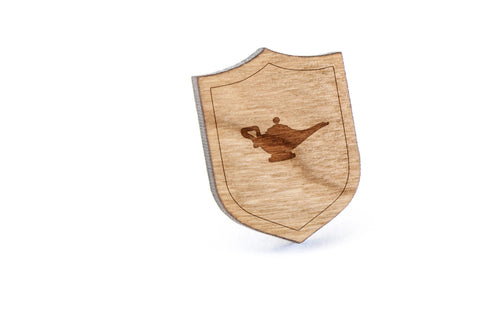 Magic Lamp Wood Lapel Pin