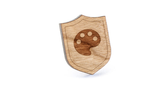 Paint Palette Wood Lapel Pin
