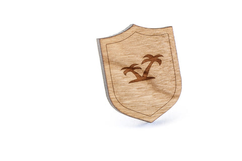 Palm Trees Wood Lapel Pin
