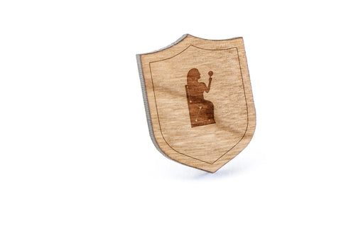 Cassiopeia Wood Lapel Pin