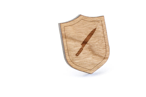 Chefs Knife Wood Lapel Pin
