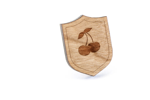Cherries Wood Lapel Pin