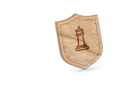 Chess King Wood Lapel Pin