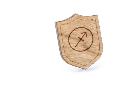 Sagitarius Wood Lapel Pin