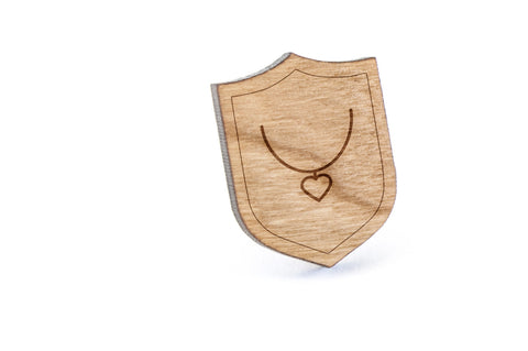 Saluki Necklace Wood Lapel Pin